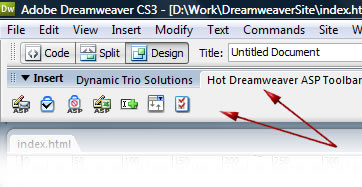 Dreamweaver Toolbar