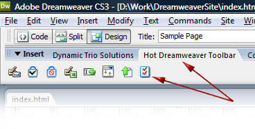 HotDreamweaver PHP Toolbar