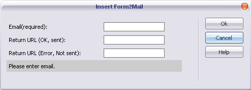 Form to Mail insertion