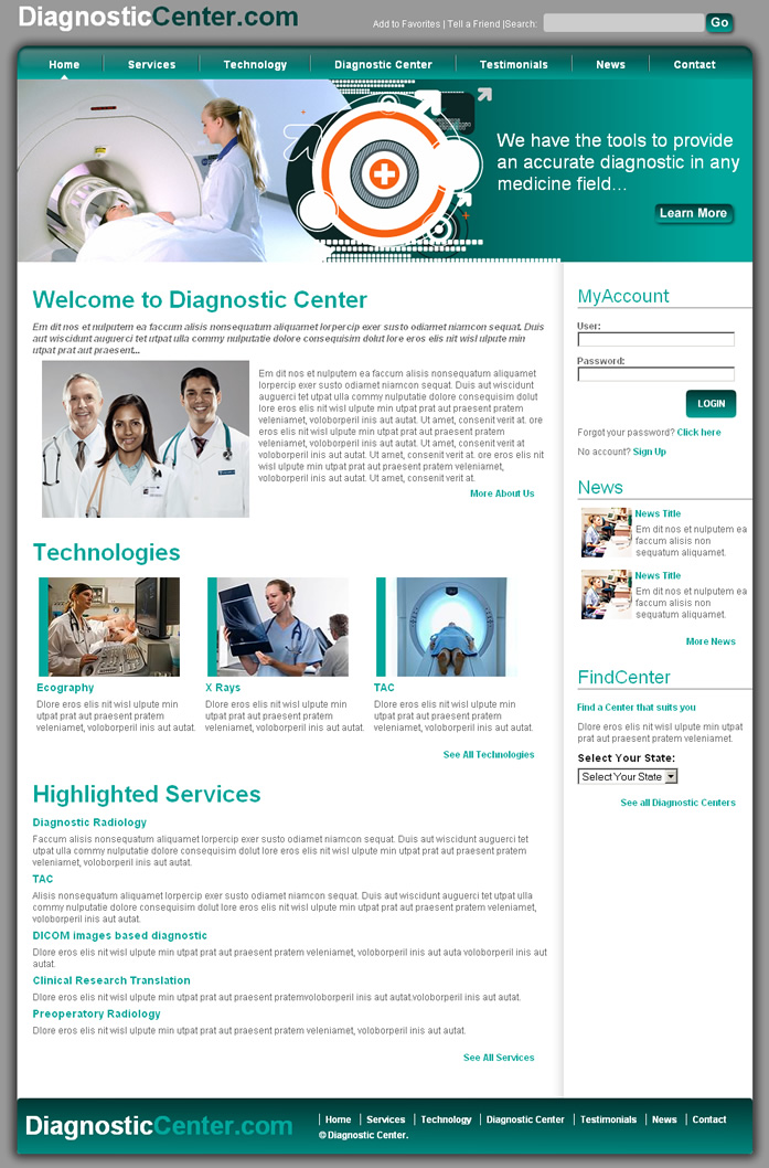 Medical Center Dreamweaver Templates