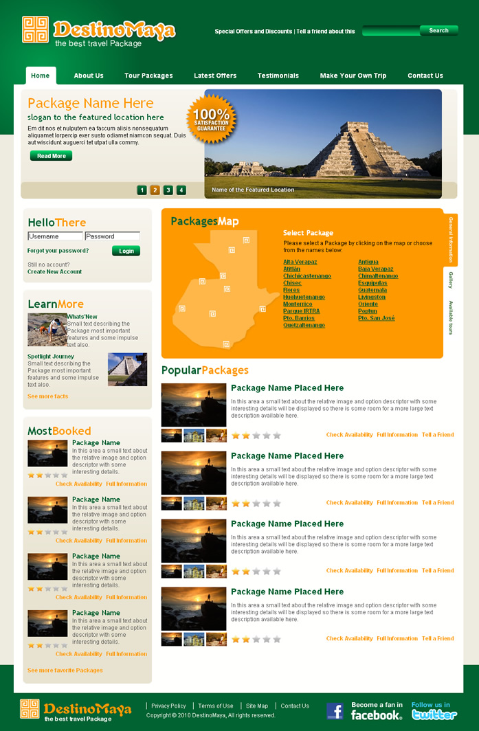Travel agency dreamweaver templates for Dreamweaver layout templates